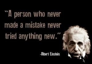 Einstein - mistakes